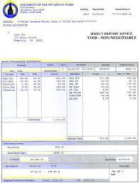 sample pay check