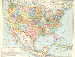 maps of usa and mexico