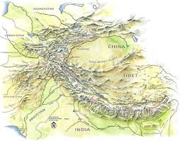 map of himalaya mountains