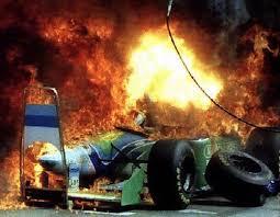race car crashes