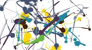 paint splatter art