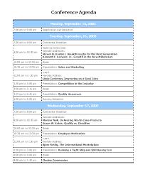 conference agendas