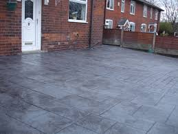 imprinted concrete driveways