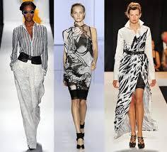 black and white fashions