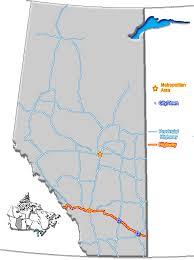 highway maps of alberta