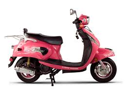 pink moped scooters