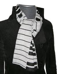 piano keys scarf