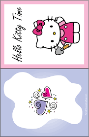 hello kitty happy birthday cards