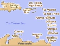 map of southern caribbean