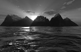 black and white ocean pictures