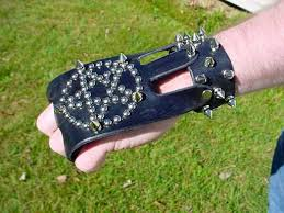 spiked wrist bands