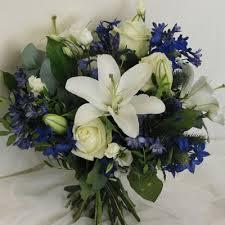 blue delphinium bouquets