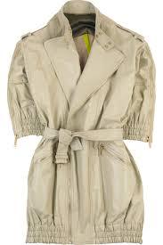 cream leather coat