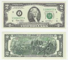 2 dollars bill