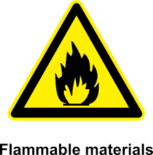 flammable signage