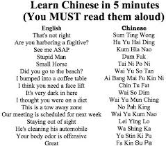 learn chinese five minutes