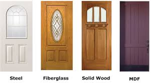 hardwood entry door