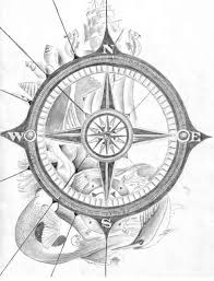 compass rose drawings