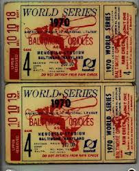 World Series tickets stubs