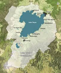 lake taupo map