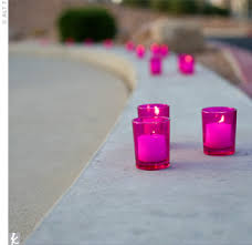 bright pink candles