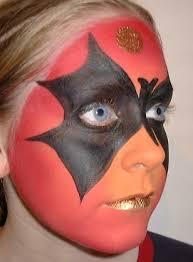face paint bat