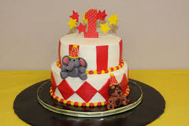 circus theme birthday cakes