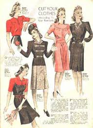 clothes in the 1940
