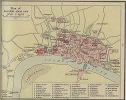 historic map of london