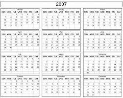 2008 printable calendars