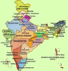 tourist map india