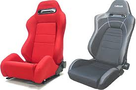 red bucket seat