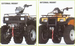 atv winch mount
