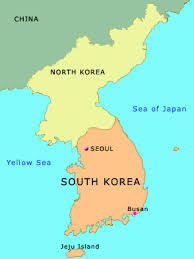 map of korea