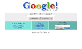 first google homepage