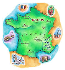 map of france for kids