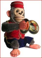 monkey with cymbal