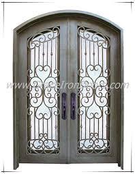 iron exterior door