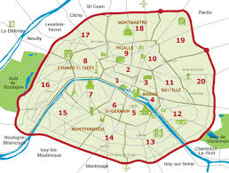 paris map districts