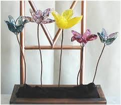 hand blown glass flower