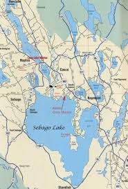maine lake map