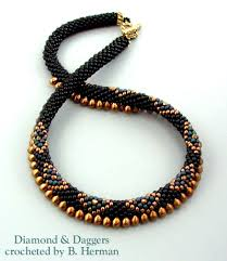 crochet beaded necklaces