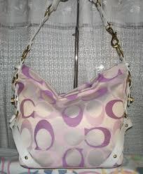 coach purses pink