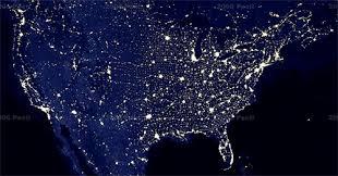 google earth night