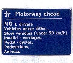 motorway signs