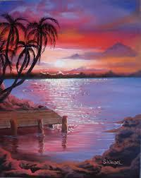 beach sunset paintings