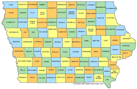 map of iowa with counties