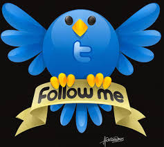 follow me on twitter icons