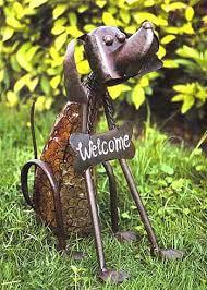metal dog art
