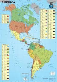 mapa de america del norte y sur